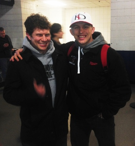 Kyle Dake and Dickie White- a picture at the NYS wrestling championships in Albany