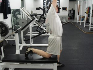 Stretched hip flexor (right side specifically).