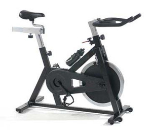 A picture of a Spin Bike with a white background.