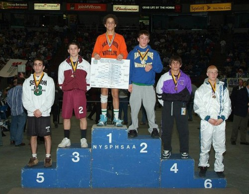 Devon Brown on top of Section 4 podium