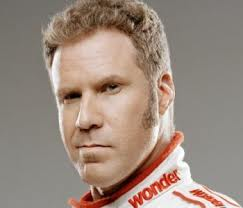 A head shot of Will Ferrell as Ricky Bobby.