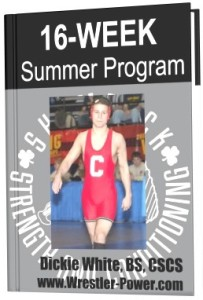 Cornell Wrestling Weight Training Program - an image of a 16 week weight training program for wrestlers offered on Wrestler-Power.com