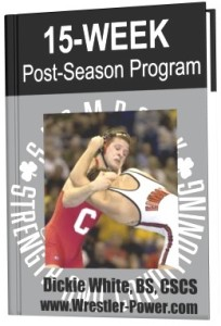 Lifting Program For Wrestlers - an image of a 15 week post season plan for wrestling