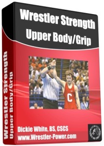 Weight Training For Wrestlers Program - this image of an eBook features a picture of Troy Nickerson after winning the NCAA wrestling championships